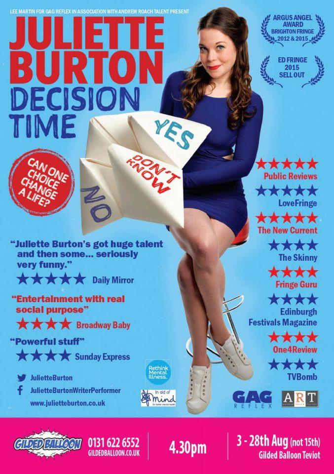 Juliette Burton Decision Time